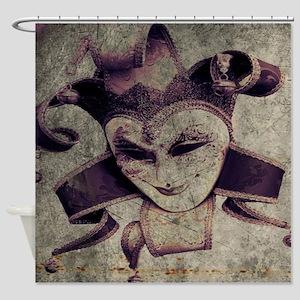 gothic grunge renaissance joker Shower Curtain