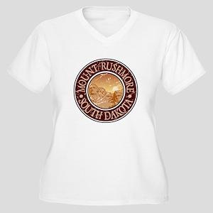 Mount Rushmore Women's Plus Size V-Neck T-Shirt