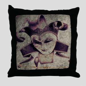 gothic grunge renaissance joker Throw Pillow