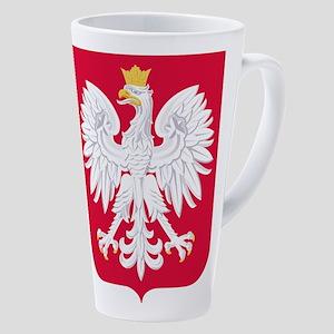 Poland Coat of Arms 17 oz Latte Mug