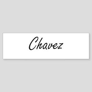 Chavez surname artistic design Bumper Sticker