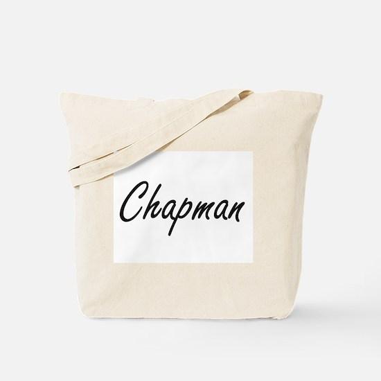 Chapman surname artistic design Tote Bag