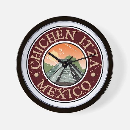 Chichen Itza, Mexico Wall Clock