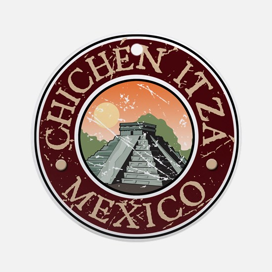 Chichen Itza, Mexico Ornament (Round)