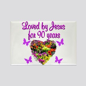 90TH CHRISTIAN Rectangle Magnet