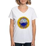 USS HULL Women's V-Neck T-Shirt