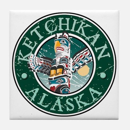 Ketchikan, Alaska Tile Coaster