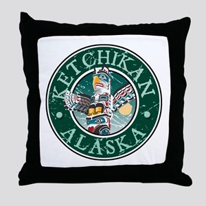 Ketchikan, Alaska Throw Pillow