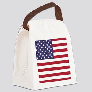 USA flag authentic version Canvas Lunch Bag