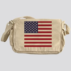USA flag authentic version Messenger Bag