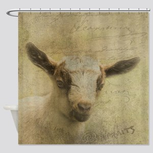 Baby Goat Socke Shower Curtain