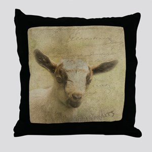 Baby Goat Socke Throw Pillow
