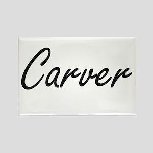 Carver surname artistic design Magnets