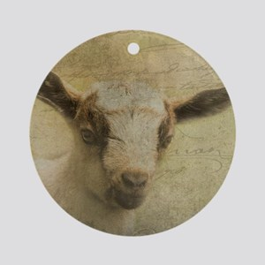 Baby Goat Socke Ornament (Round)
