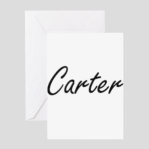 Carter surname artistic design Greeting Cards