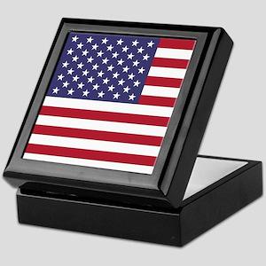 USA flag authentic version Keepsake Box