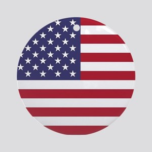 USA flag authentic version Ornament (Round)