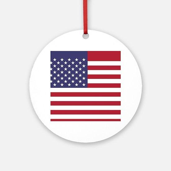 USA flag authentic version Ornament (Round)