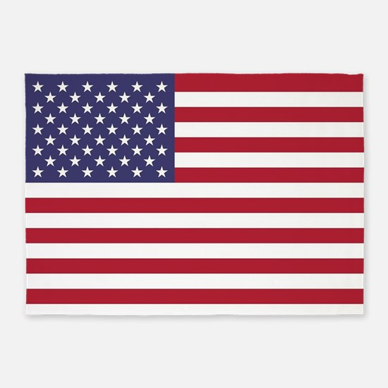 USA flag authentic version 5'x7'Area Rug