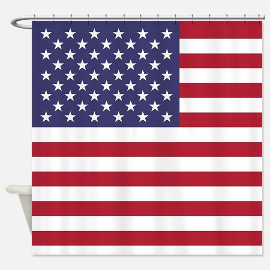 USA flag authentic version Shower Curtain