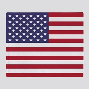 USA flag authentic version Throw Blanket