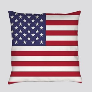 USA flag authentic version Everyday Pillow