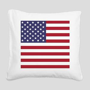 USA flag authentic version Square Canvas Pillow