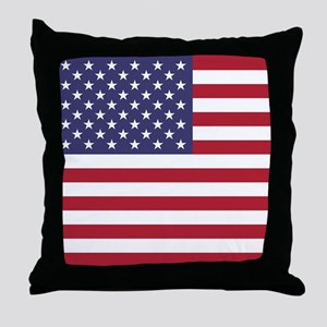 USA flag authentic version Throw Pillow