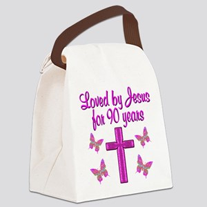 90TH CHRISTIAN Canvas Lunch Bag
