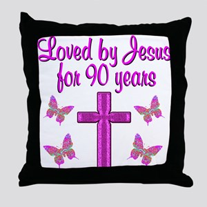 90TH CHRISTIAN Throw Pillow