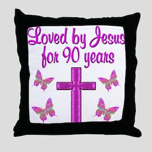90TH CHRISTIAN Throw Pillow