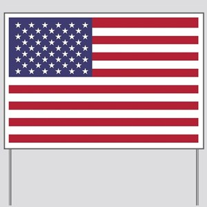 USA flag authentic version Yard Sign