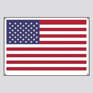 USA flag authentic version Banner
