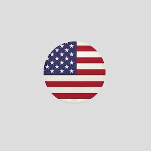 USA flag authentic version Mini Button