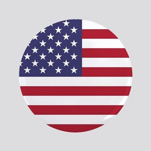USA flag authentic version Button