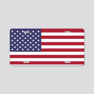 USA flag authentic version Aluminum License Plate