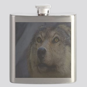 Brown wolf Flask