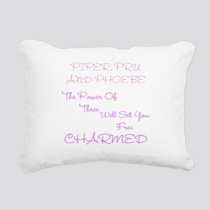 Charmed Power of Three Rectangular Canvas Pillow