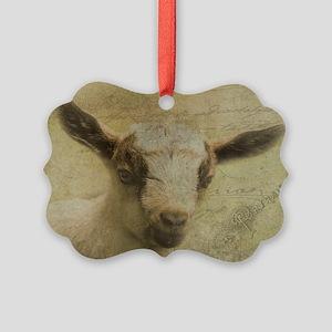 Baby Goat Socke Ornament