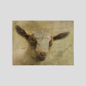 Baby Goat Socke 5'x7'Area Rug