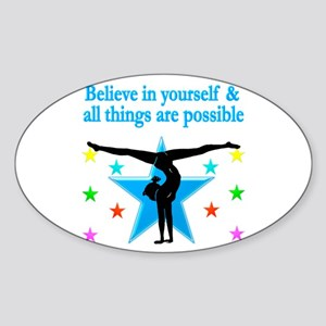 INSPIRED GYMNAST Sticker (Oval)