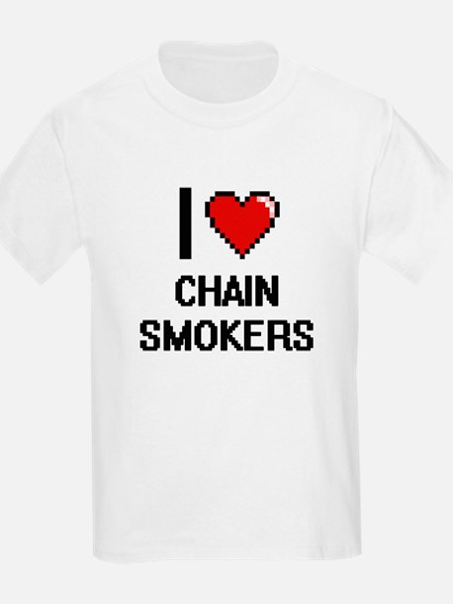 I love Chain Smokers Digitial Design T-Shirt