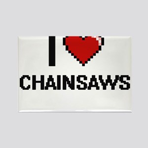 I love Chainsaws Digitial Design Magnets