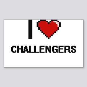 I love Challengers Digitial Design Sticker