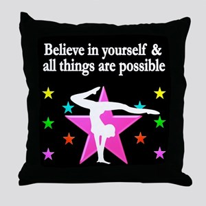 GYMNAST DREAMS Throw Pillow