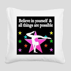 GYMNAST DREAMS Square Canvas Pillow