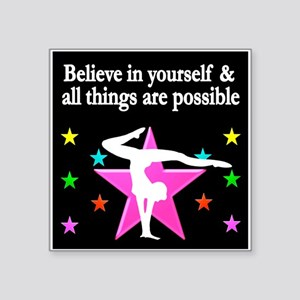 "GYMNAST DREAMS Square Sticker 3"" x 3"""