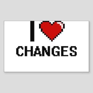 I love Changes Digitial Design Sticker