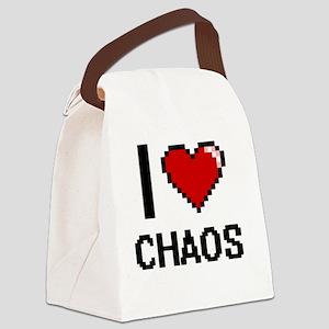 I love Chaos Digitial Design Canvas Lunch Bag