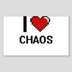 I love Chaos Digitial Design Sticker